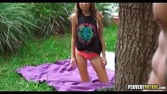 Teen Masturbating in Public Park