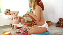 Chastity Lynn and Proxy Page filling their asses full of