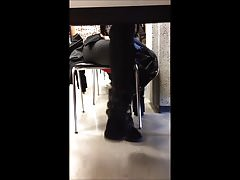 Cute Girl Syntribating in Uggs