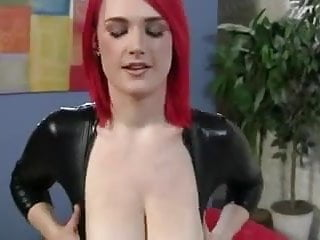Latex pornstars - Busty pornstar - pov redhead in latex