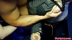 Real euro raven jerking cock and getting kinky