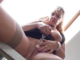 Grandma with big tits need a good sex