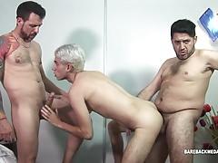 2 Daddies Spit Roast Young Fernand