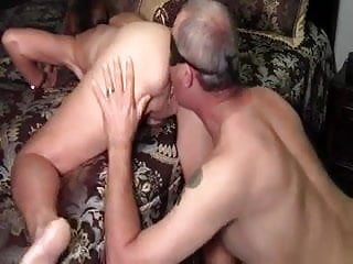 husband licks his cum from wifes fucked hole