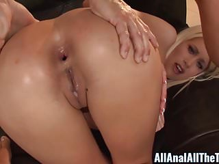 Blonde Babe Riley Jenner Gets Hot Anal Creampie In Ass