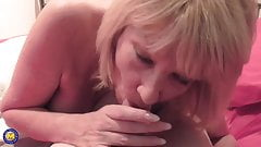 Sexy British mom suck cock and takes it doggy style