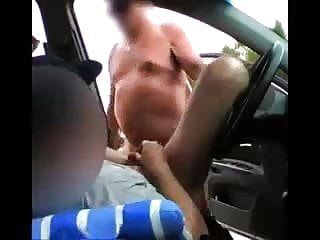 Grandpa fuck younger man in his car