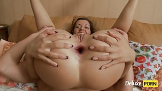 Big Cock Rocked Her Both Tight Holes