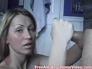 sexy amateur milf gives great handjob