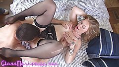 Stunning Blonde MILF Has Romantic Oral Sex With Old Man