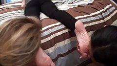 Two Chicks who really wanna Worship Dacy's Feet