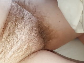close up of her soft hairy pussy mound