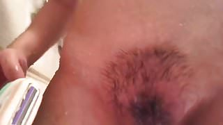 Cutie Pie shaving her pussy (2 of 3)