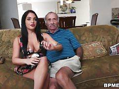 Aria Rose Sucks Old Man