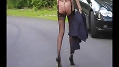 Long legs high heels and FF stockings