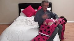 Step dad spank for that
