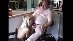Old bloke have some fun with a younger lady