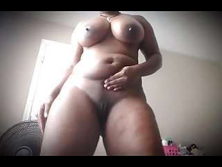 Thick BBW Dances and Strips Nude