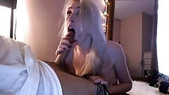 Blonde amateur blowjob