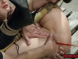 Preview 1 of Tied girl gets punished by her master with butplug and more!