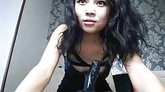 Asian school girl wanna bigger cock in her