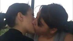kiss lesbian Homemade amateur