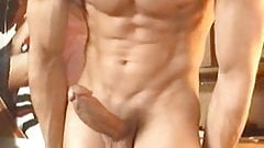 young dude playing with his beautiful cock and muscles