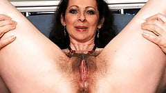 Hairy mama gets her ass fucked