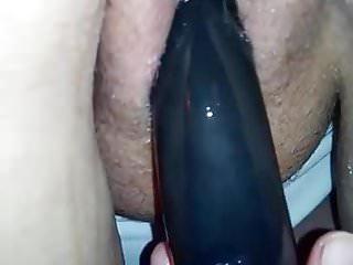 Dildo fucking till she squirts