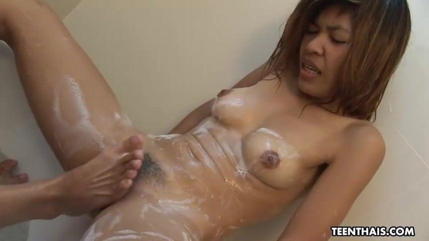 Thai slut, Nok got fucked in a doggy- style position