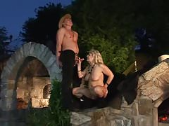 Blonde hag gets fucked by handsome devil
