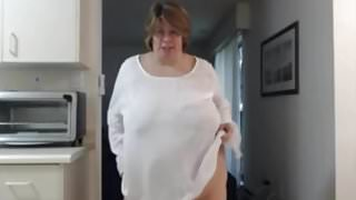 Awesome streaptease from beautyful mature