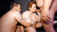 LETSDOEIT - Chunky German Mature Lady Banged in Hot Threeway