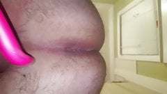toying the preCum out of my assfucked dick