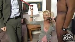 Young wife's ass destroyed by BBC while cuckold watch