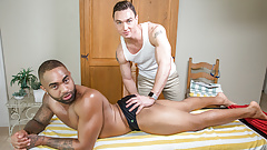 Black Athlete Assfucked By Masseur