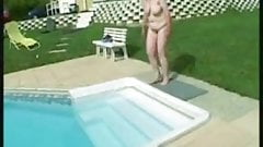 bbw mature swimming pool