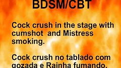 Cock crush in the stage with cumshot