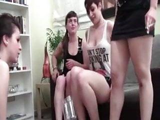HH. 4 spitting girls 1 slave