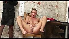 Sexy MILF secretary humiliating naked job inteview