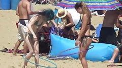 Beach Performer Black Bikini n Tatoos porn image