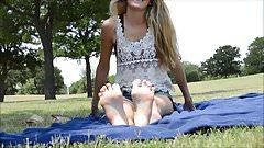 BARE FOOT & A Beautiful Feet in the open field