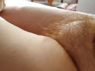 feeling her sexy soft hairy pussy mound