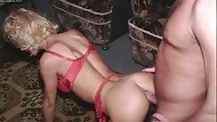 Blond Milf in silk stockings passionate fucking