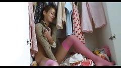 Russian Slut Natasha Shy Working Both Holes With Her Toys!
