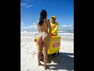 Spy and Voyeur Hot bitch Ass on the beach