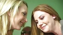 Redhead Cherry And Friend Take On A BBC