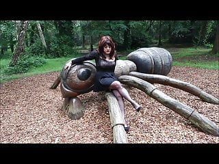 Sindy in a dogging park
