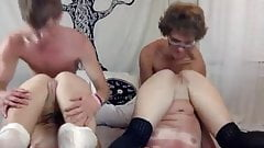 Beautiful camgirls have their pussies eaten by bfs