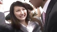 naive japonaise pantalon dechire pelotee baisee train